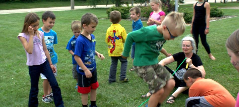 Kids having fun at Zenon Park French Summer Camp