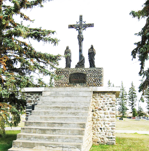 The crypt is located at the Zenon Park cemetery