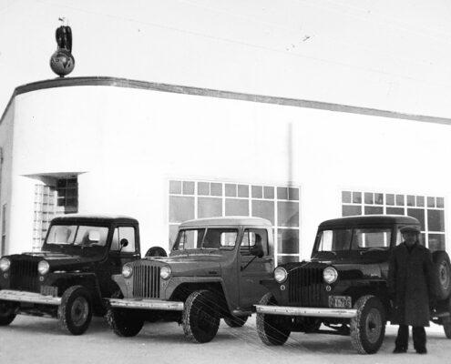 J.B. Wassill & Son Ltd garage in 1947