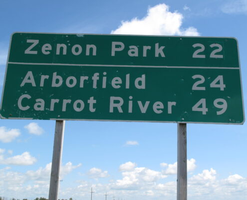 En route for Zenon Park Saskatchewan