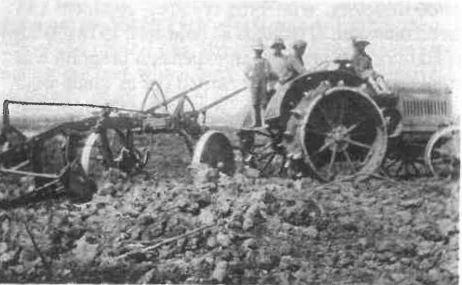 Steel wheeled tractor