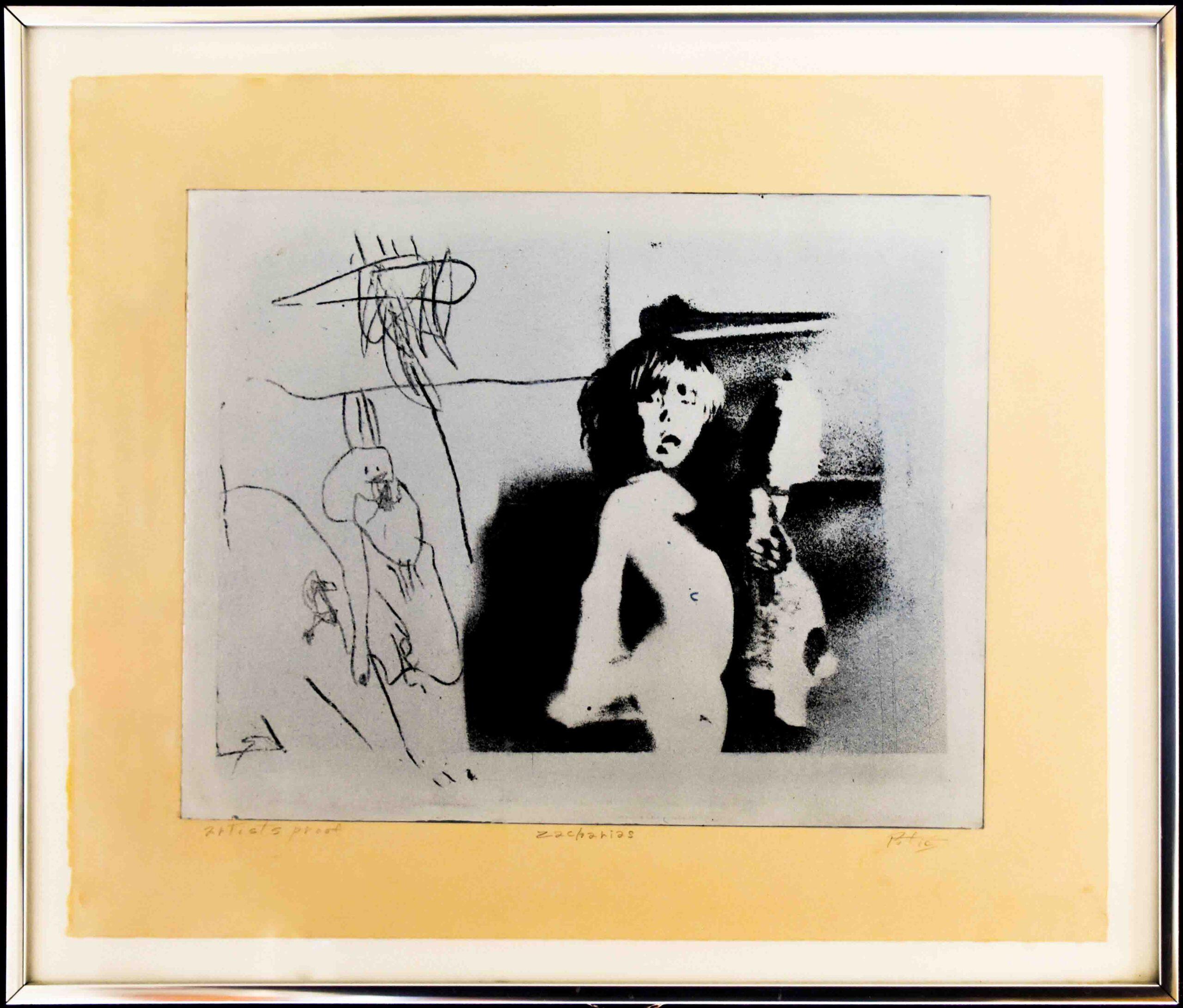 1975 Zacharias-intaglio on mylar18x24in by Raymond Potié